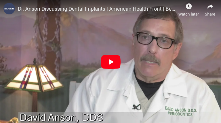 Dr. Anson Discussing Dental Implants Video Still